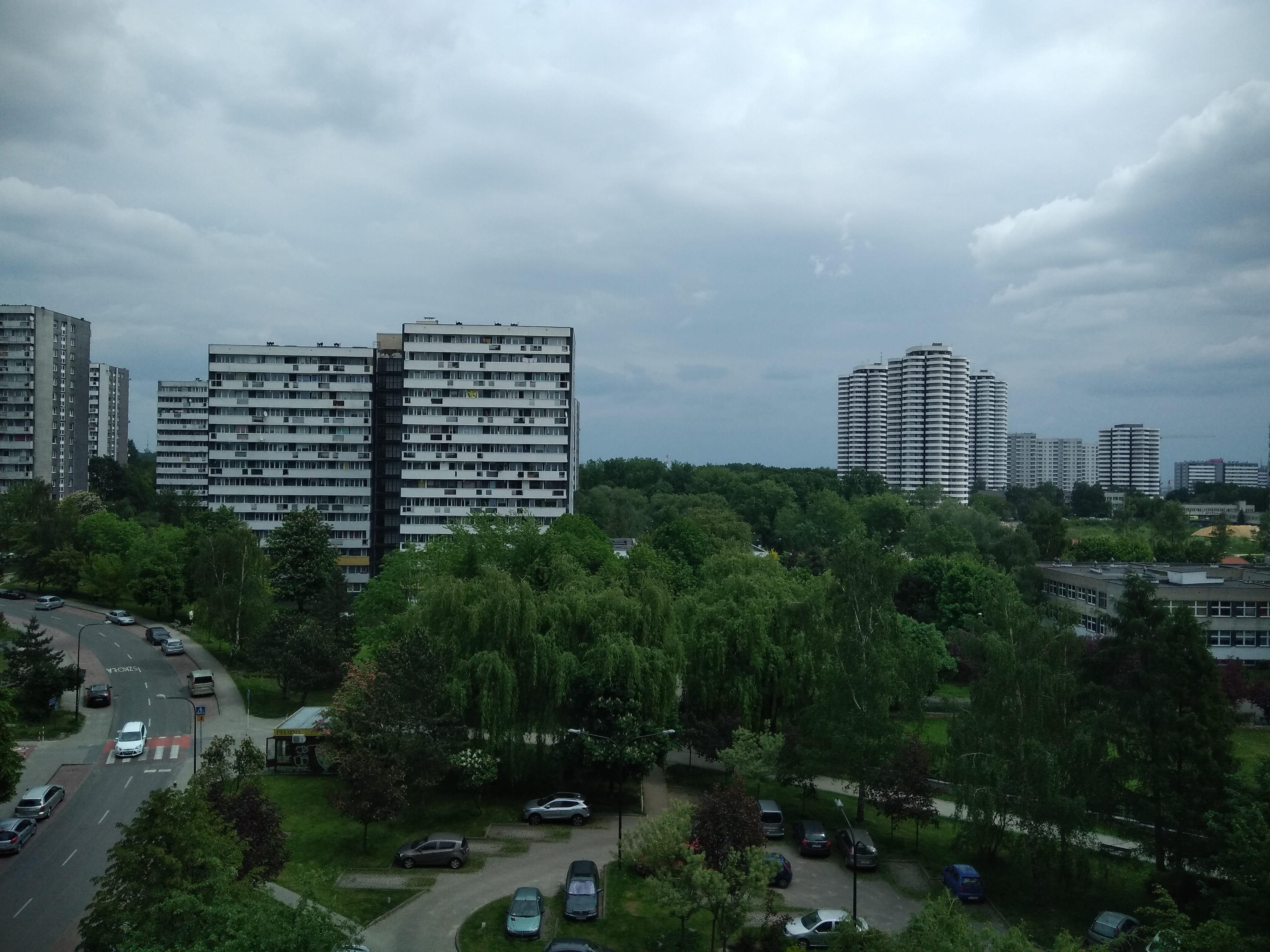 Pochmurna pogoda - Wiko VIEW