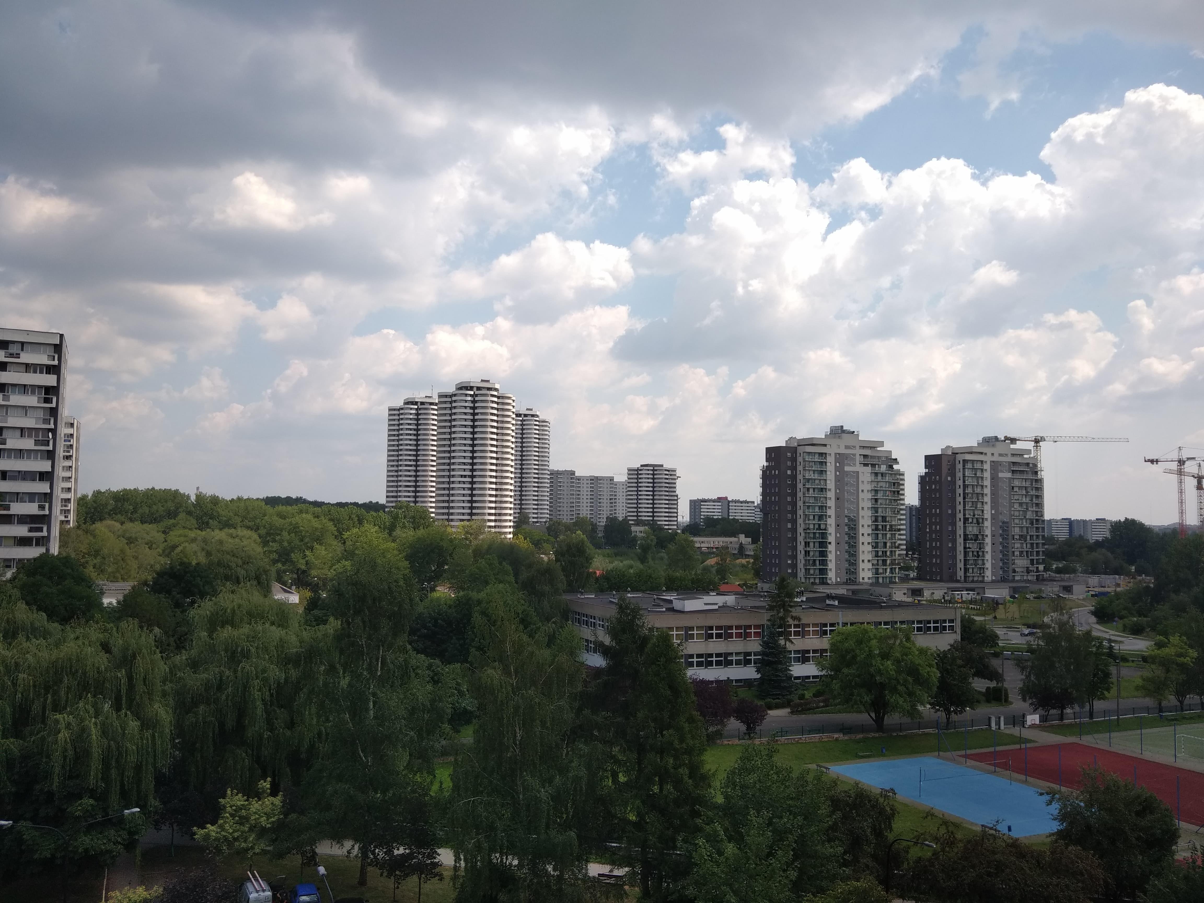 Pochmurna pogoda - Wiko View 2 Pro