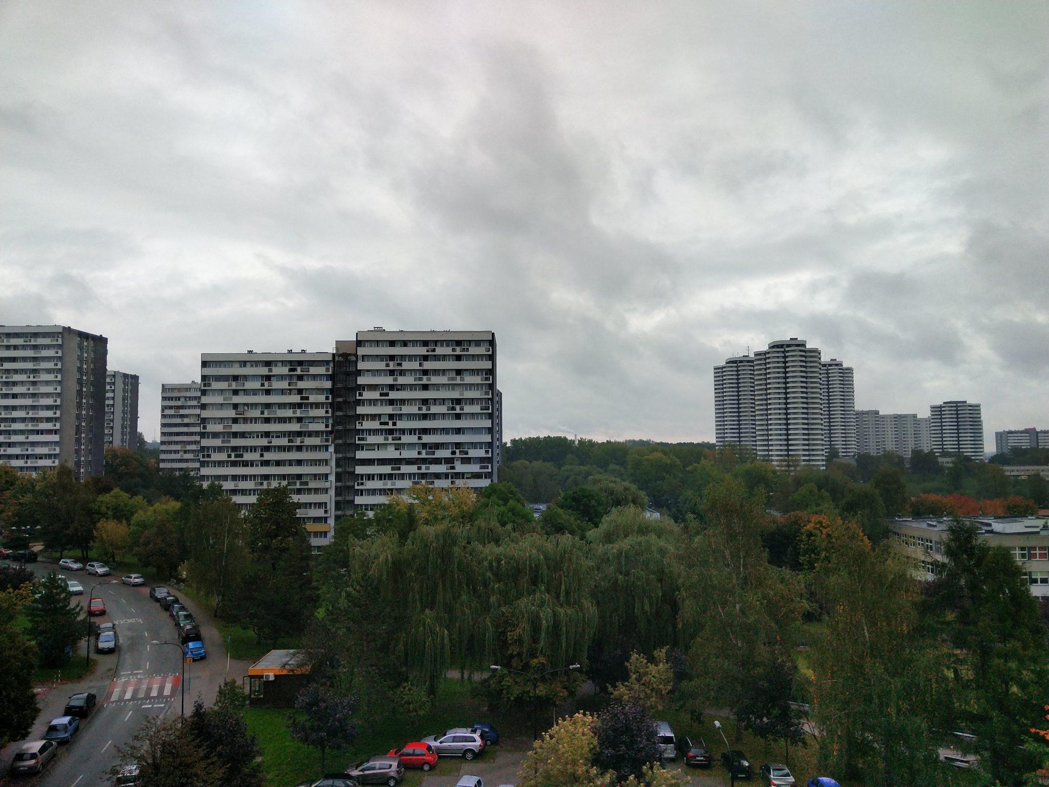 Pochmurna pogoda - Sharp Aquos D10
